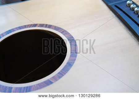sound hole of acoustic guitar not have strings