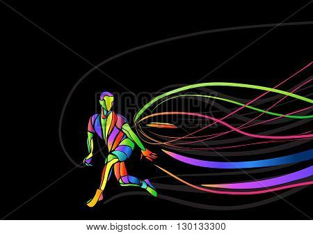Ultimate sport, flying disc invitation poster or flyer background with empty space, banner template