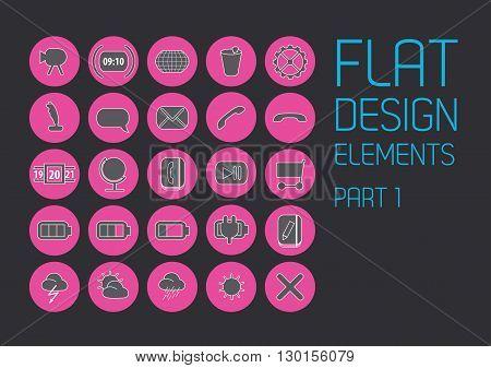 Flat design template - Vector Illustration. Vector art