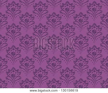 Seamless background - abstract floral tapestry texture. Lilac color. EPS10 vector.