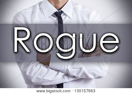 Rogue - Young Businessman With Text - Business Concept