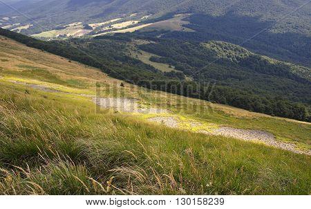 Bieszczady Mountains National Park in Poland beautiful landscape