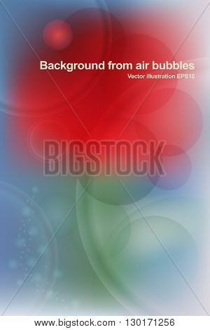 Vector background, abstract flower from the soaring air bubbles