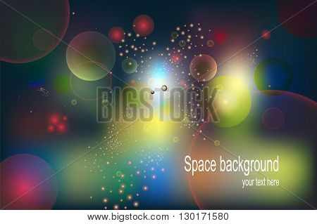 Abstract Background. Multi-colored balloons bubbles. Vector illustration