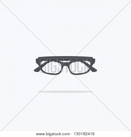 Glasses. Icon glasses on a light background. Vector illustration.