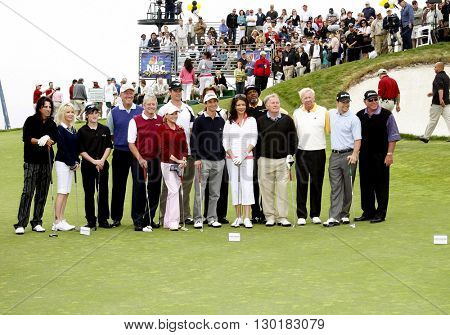 Michael Douglas, Haley Joel Osment, Alice Cooper, Martin Sheen, Heather Locklear, Catherine Zeta-Jones, Cheryl Ladd, Samuel L. Jackson and Mark Wahlberg at the Trump Golf Club on April 29, 2007.