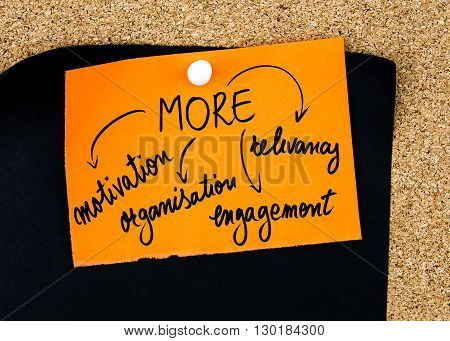 Business Acronym More Written On Orange Paper Note