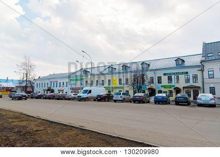 Rostov Veliky, Russia-March 30.2016.  Shopping arcade around the Kremlin