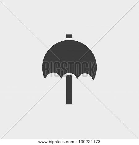Umbrella icon in black color. Vector illustration eps10