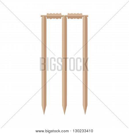 Cricket stumps illustration. Cricket stumps on white background. Cricket stumps vector. Stumps illustration. Cricket stumps isolated vector