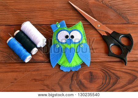 Owl soft animal. Owl nursery decor. Owl soft toy. Nursery decor. Cute felt toy.