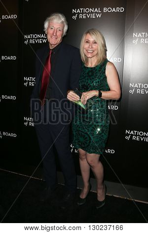 NEW YORK-JAN 5: Cinematographer Roger Deakins (L) and wife Isabella James Purefoy Ellis attend the 2015 National Board of Review Gala at Cipriani 42nd Street on January 5, 2016 in New York City.