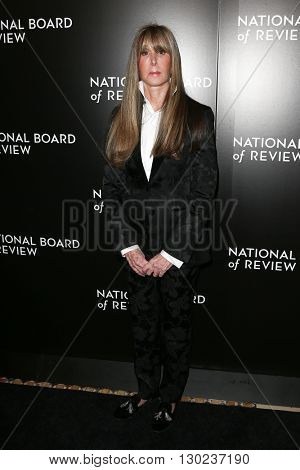 NEW YORK-JAN 5: NBR President Annie Schulhof attends the 2015 National Board of Review Gala at Cipriani 42nd Street on January 5, 2016 in New York City.