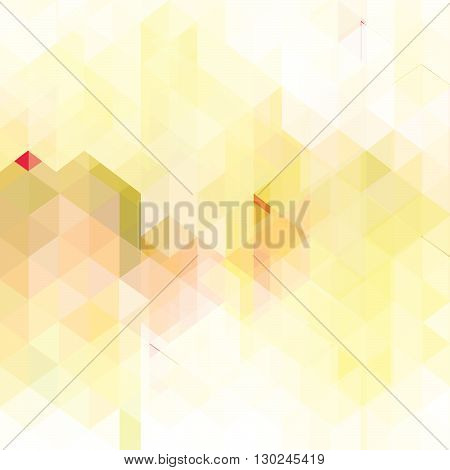 orange background with triangles -  vector illustration