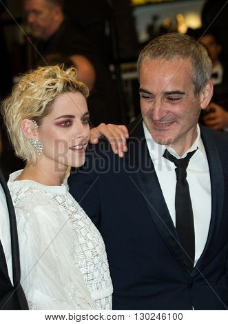 Olivier Assayas, Kristen Stewart attends the 'Personal Shopper' premiere at the 69th Festival de Cannes. May 17,  2016  Cannes, France