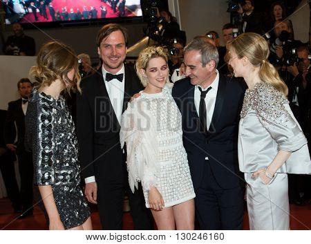 Sigrid Bouaziz, Olivier Assayas, Kristen Stewart, Nora von Waldstaetten , Anders Danielsen Lie,  'Personal Shopper' premiere at the 69th Festival de Cannes. May 17, 2016  Cannes, France