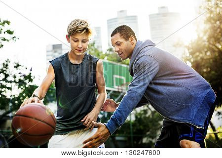 Basketball Action Activity Bounce Practice Sport Concept