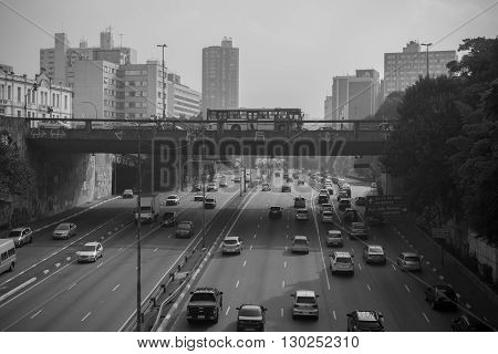 Sao Paulo - MAY 07 2016 - Bairro da Liberdade famous district oriental located in the city of São Paulo view of Radial Leste Japanese and other Asian immigrants reside.
