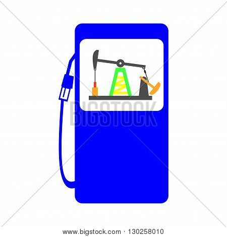gas station crude oil pump icon illustration