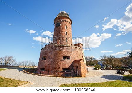 Harbor and the lighthouse in Kolobrzeg Poland