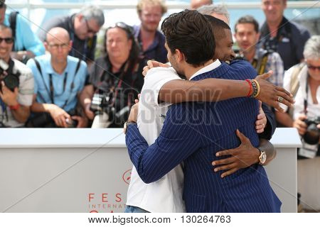 Usher, Edgar Ramirez  at the photocall for Hands Of Stone at the 69th Festival de Cannes.May 16, 2016  Cannes, France