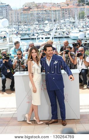 Ana de Armas, Edgar Ramirez  at the photocall for Hands Of Stone at the 69th Festival de Cannes. May 16, 2016  Cannes, France