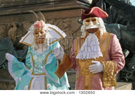 some of the most beautiful masks of the carnival of venice italy poster