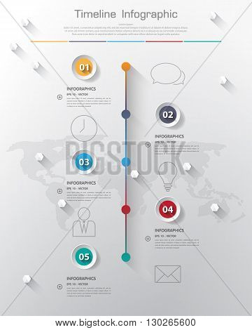 Design Simple Step Number And Line Business Icon Timeline/graphic Or Website.vector/illustration.