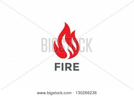 Fire Flame Logo design vector template. Bonfire Silhouette Shape Logotype concept icon