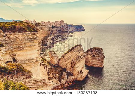 Bonifacio - Corsica. One Of The Most Beautiful Cities In Corsica