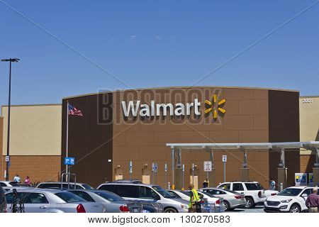 Indianapolis - Circa March 2016: Walmart Retail Location. Walmart is an American Multinational Retail Corporation V