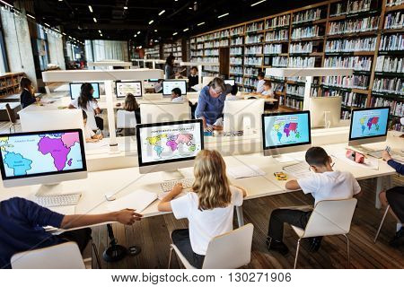 Education School Student Computer Network Technology Concept