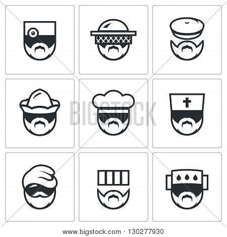 Medic, Gardener, Forester, Boatman, Baker, Bishop, Migrant, Convict, infected person.