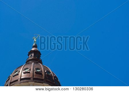 Kansas State Capitol Building Dome and Statue