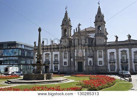 BRAGA, PORTUGAL - September 21, 2015: The Church of Saint Mark (igreja de Sao Marcos) is 18th century classic baroque temple in Braga on September 21, 2015 in Braga, Portugal