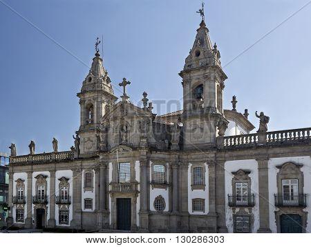 The Church of Saint Mark (igreja de Sao Marcos) is 18th century classic baroque temple in Braga Portugal