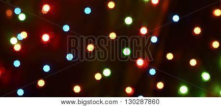 bokeh colorful dark background (dots light starflight)