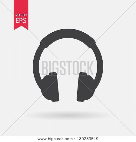 Headphone Icon Vector. Flat design. Headphone sign isolated on white background.