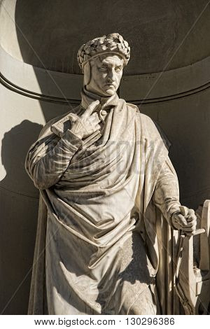 Florence Uffizi Statue Dante Alighieri