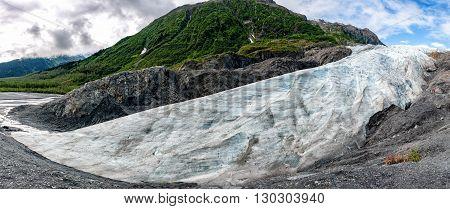 Alaska Mendenhall Glacier View Landscape