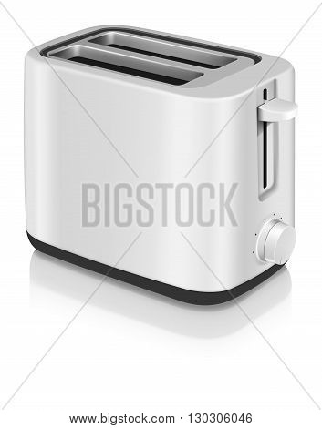 Photorealistic vector electrical toaster on white background