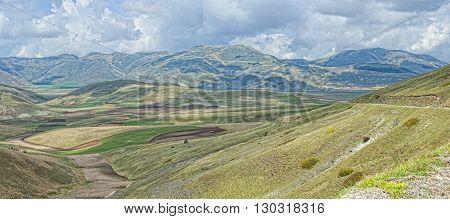 Castelluccio Umbra Italy Landscape