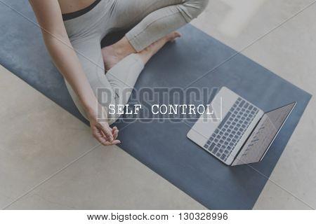 Self Control Character Define Personal Discipline Concept