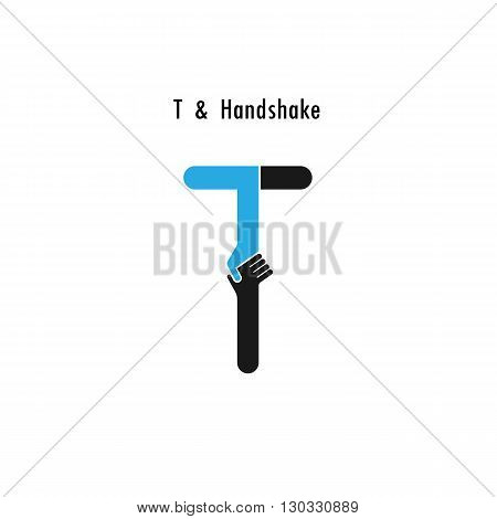 Creative T- letter icon abstract logo design vector template.Business offerpartnership icon.Corporate business and industrial logotype symbol.Vector illustration
