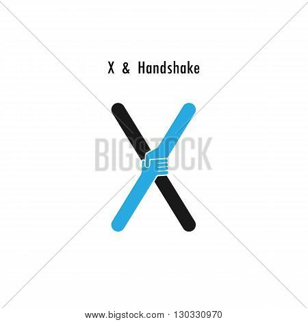 Creative X- letter icon abstract logo design vector template.Business offerpartnership icon.Corporate business and industrial logotype symbol.Vector illustration