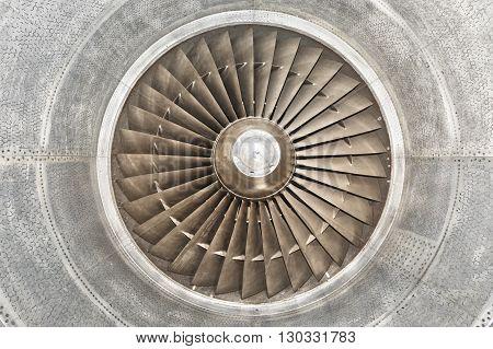 Jet Airplane Turbine Engine