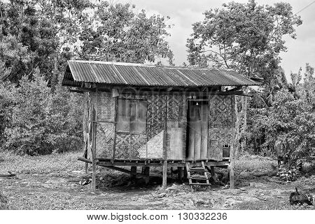 hovel shanty shack in Cebu Philippines view