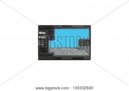 Lithium Battery camera isolated on white background