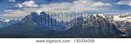 Banff park rocky mountains landscape view landscape panorama