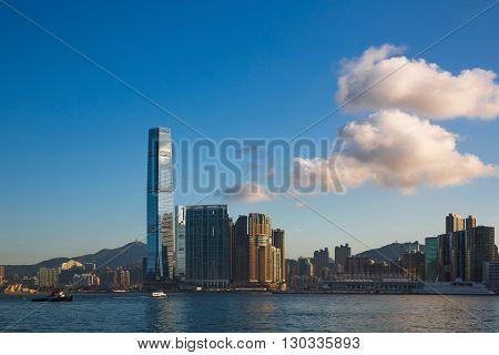 Hong Kong, China: 2 Aug 2015 Hongkong Cityscape, Hongkong Business Center District, Hong Kong, China